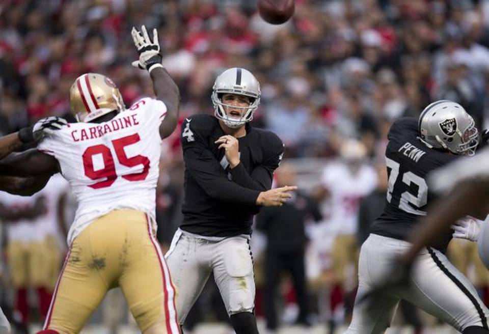 Courtesy of Raiders.com: Derek Carr put up the best performance of his career Sunday.