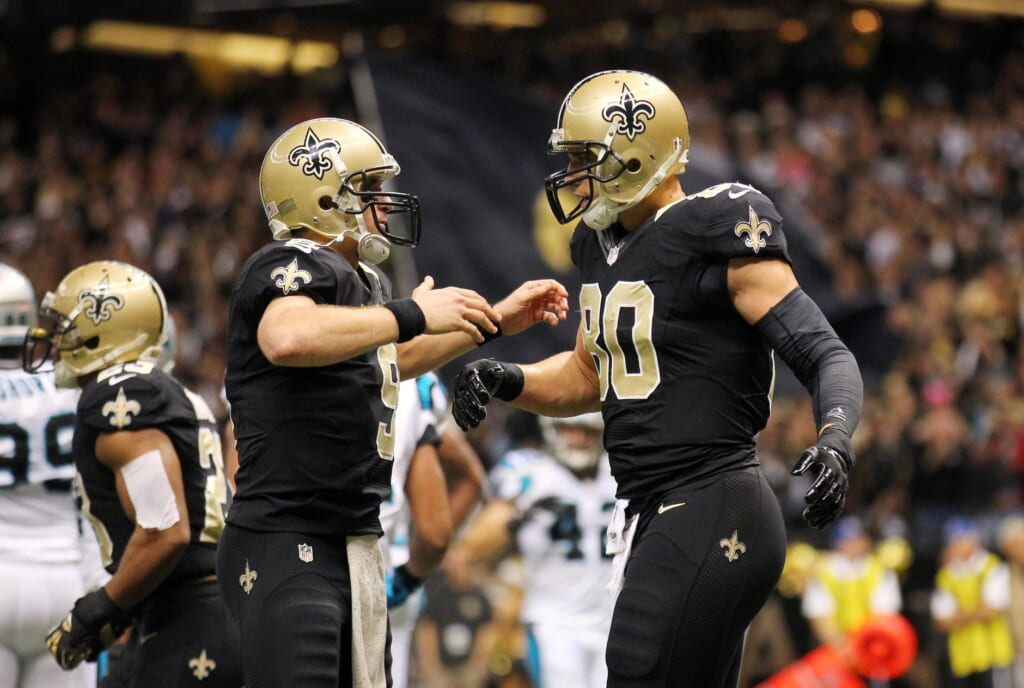 Courtesy of USA Today: Drew Brees and Jimmy Graham will combine to count $37.4 million against the cap in 2015.