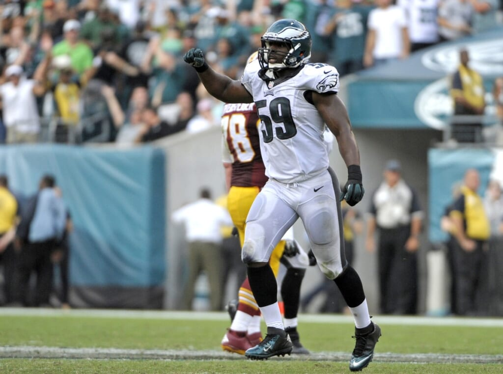 Courtesy of USA Today: Philadelphia could save $6.9 million by releasing DeMeco Ryans.