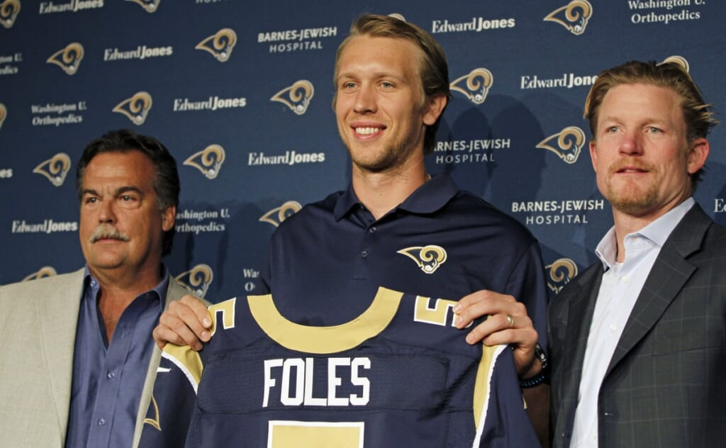 Courtesy of USA Today Images: Are the Rams really sold on Foles?