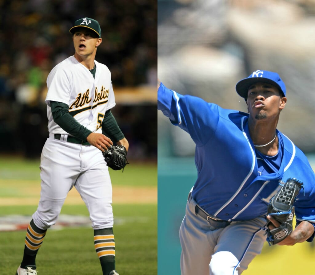 Courtesy of USA Today Images: Two young aces will take to the mound on difference days in K.C. next weekend.