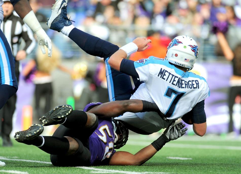 USA Today Images — Ravens linebacker Elvis Dumervil (58)