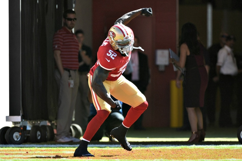 USA Today Images — 49ers inside linebacker Patrick Willis