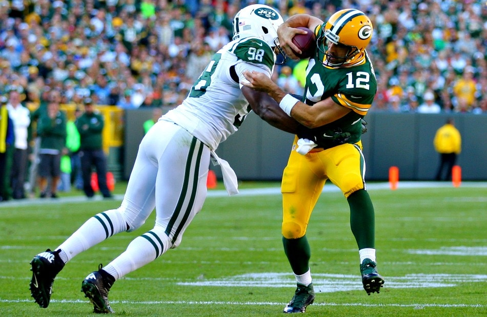 USA Today Images — Outside linebacker Quinton Coples (98)