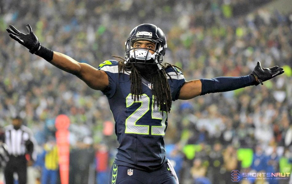 Courtesy of USA Today Sports: Sherman sets the tone for the entire Legion of Boom.