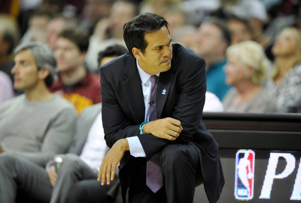 Courtesy of USA Today Images: Spoelstra has seen is all come crashing down on him this year.