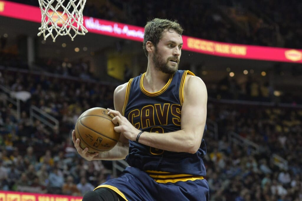 Kevin Love Game 2 2017 NBA Finals Cleveland Cavaliers Golden State Warriors
