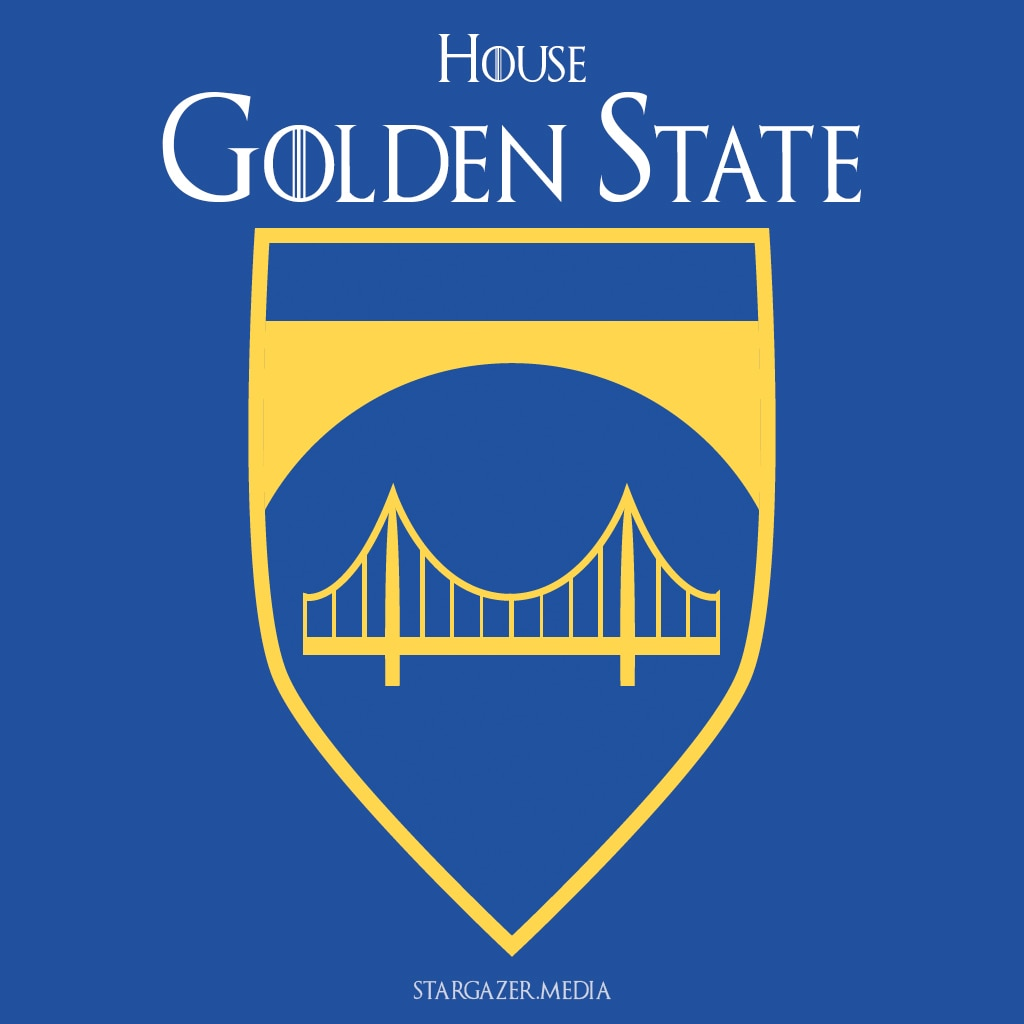 "Warriors Come Out And Play Logo: ""Game Of Thrones"" Themed NBA House Sigils"