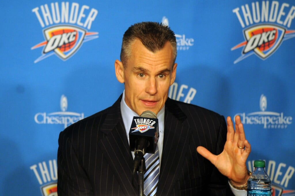 Courtesy of USA Today Sports; Billy Donovan will be under immediate pressure in Oklahoma City.