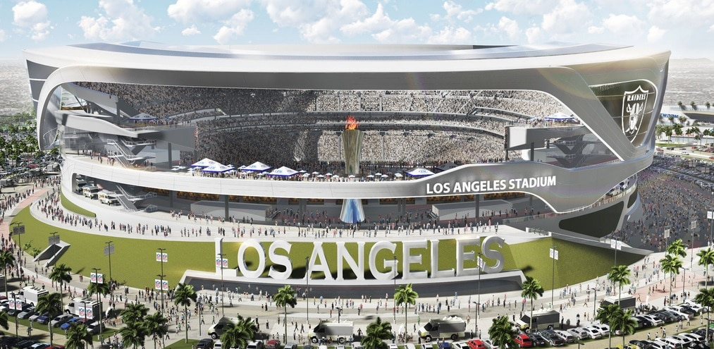 Courtesy of the L.A. Time: It also makes sense that the Raiders would want to take advantage of the L.A. market.