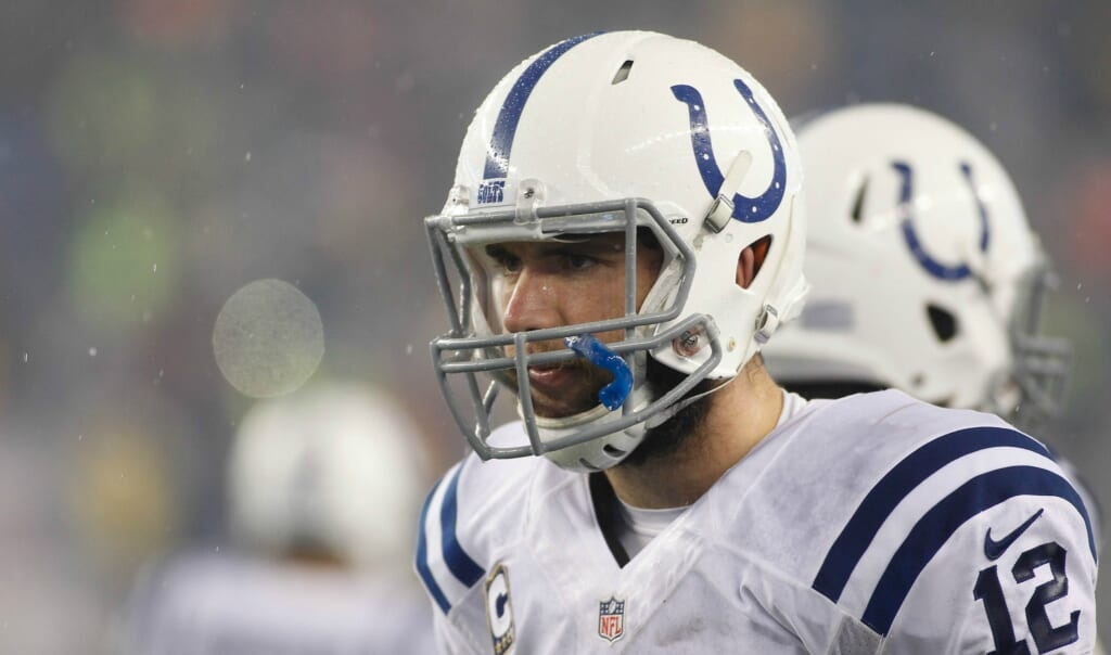 Courtesy of USA Today Sports: Luck's success on the field is matched by his maturity off the field.