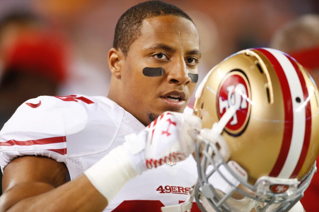 The NFL players union says former San Francisco 49ers safety Eric Reid filed a grievance against the league alleging that he remains unsigned as a result of