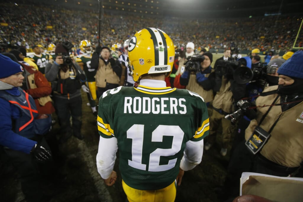 Courtesy of USA Today Sports: Forget about today's NFL, Rodgers has a chance to be the greatest ever.