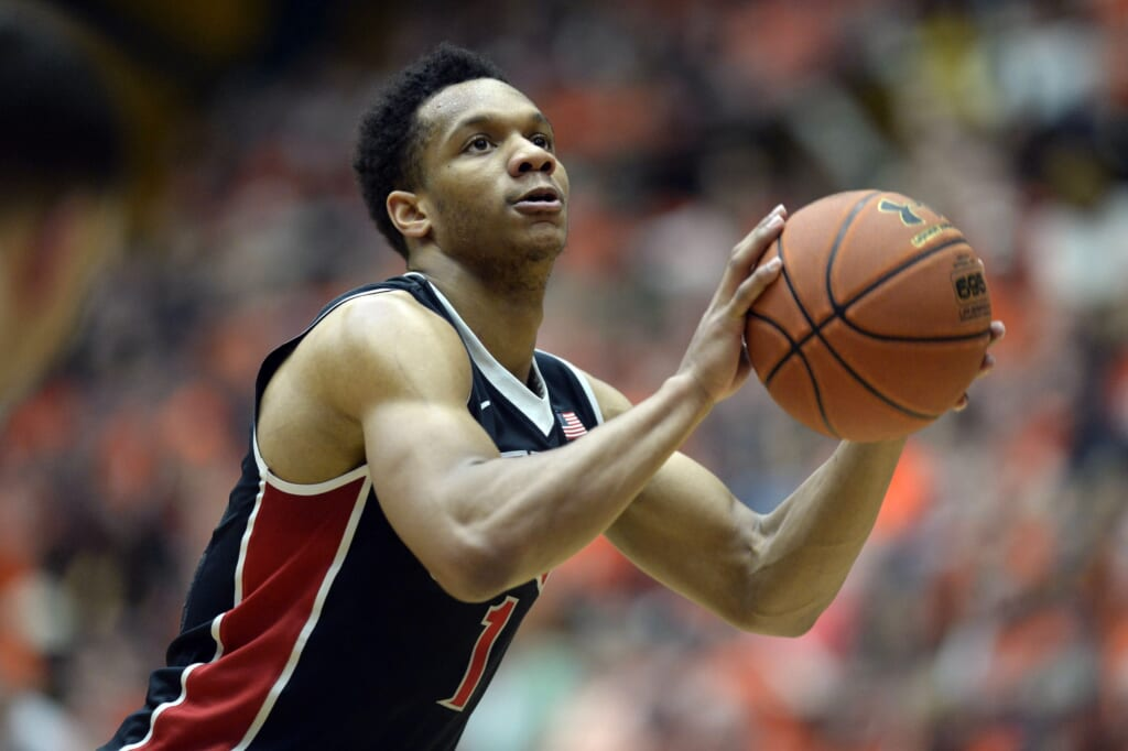 Courtesy of USA Today Sports: Someone like UNLV's Rashad Vaughn would be big for the Warriors.