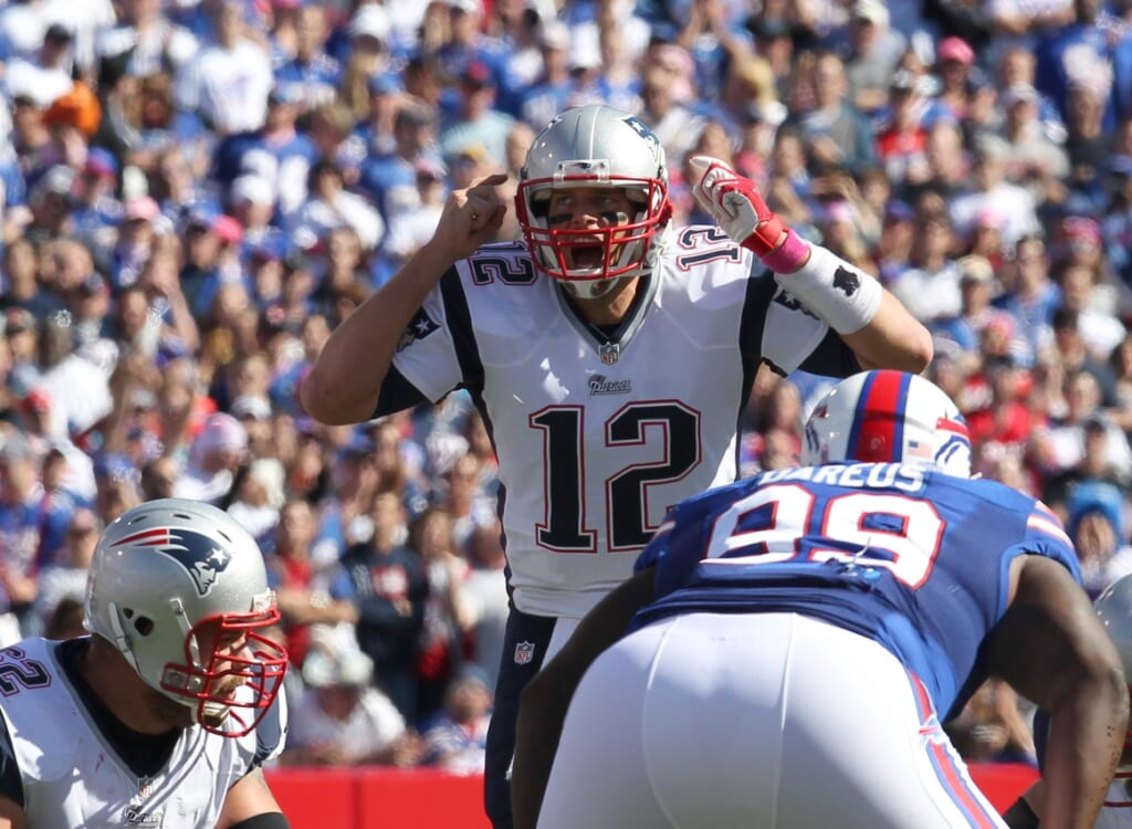 Courtesy of USA Today Sports: With teams like the Bills breathing down their neck, the Patriots aren't a lock in the east.
