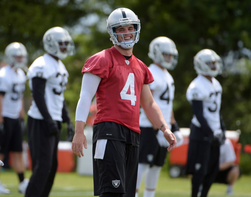 Courtesy of USA Today Sports: Carr has the supporting cast to take his game to the next level.