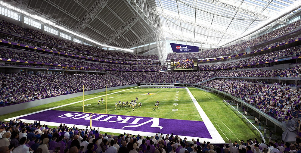 Exterior: Watch: U.S. Bank Stadium, Future Home Of The Vikings