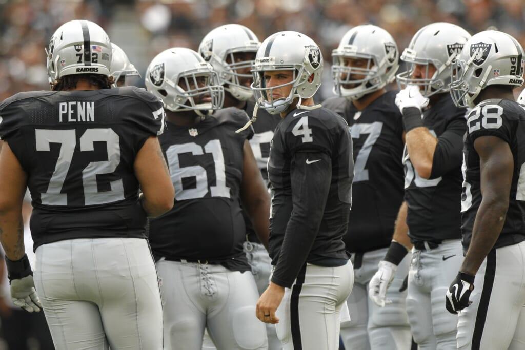 Derek Carr and the Raiders are in danger of being upset in NFL Week 9