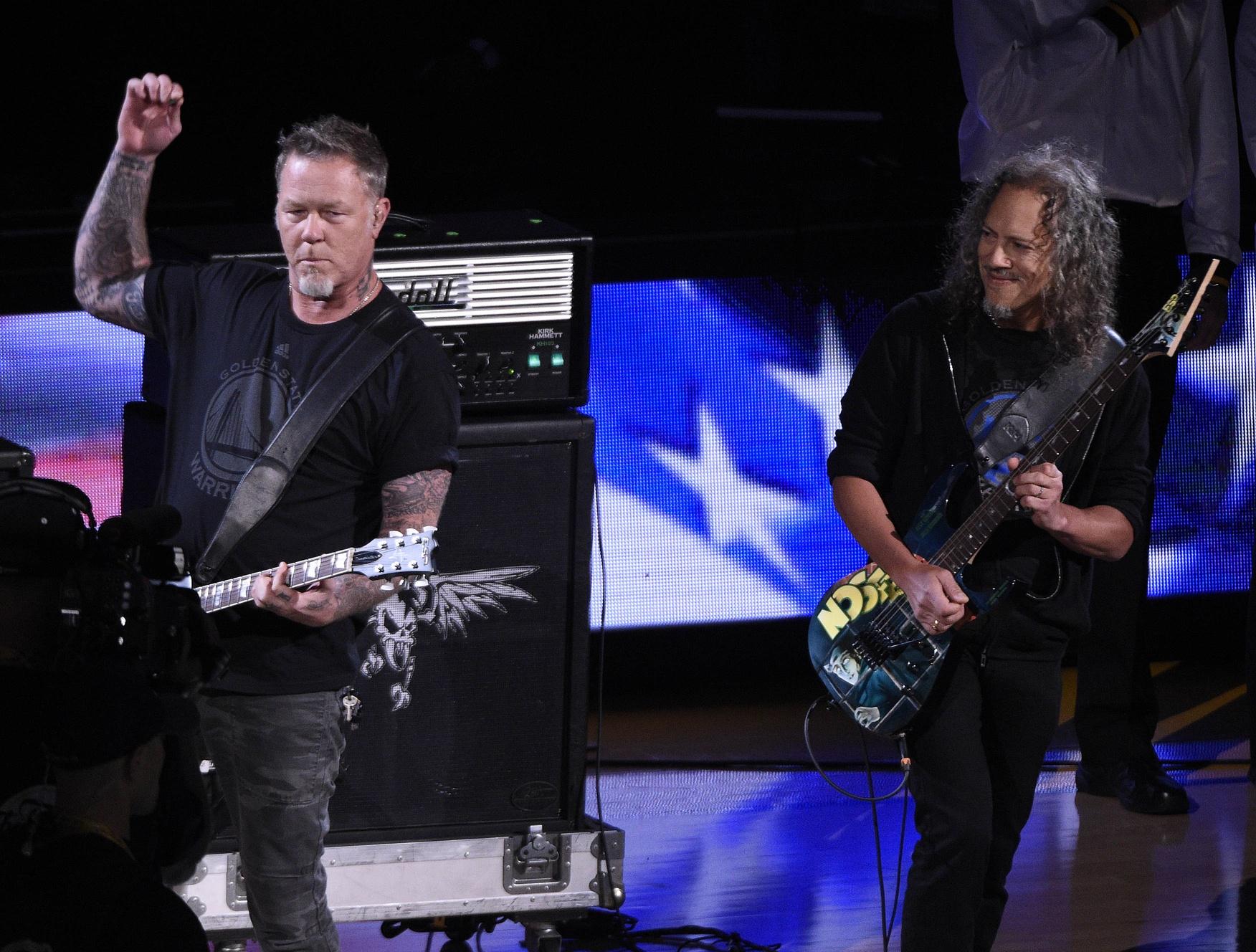 Raiders fan James Hetfield of Metallica