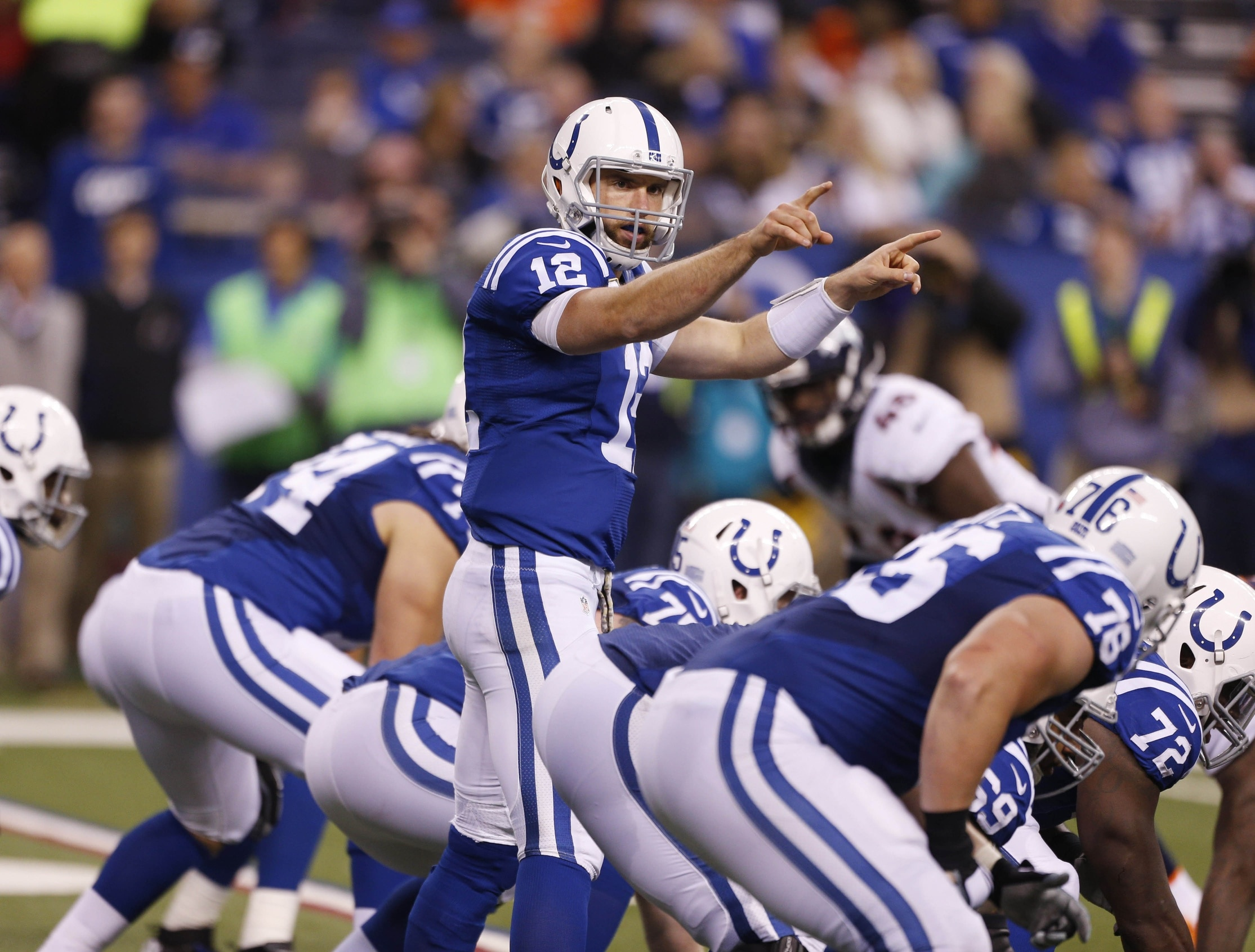 Colts QB Andrew Luck needs all the help he can get.
