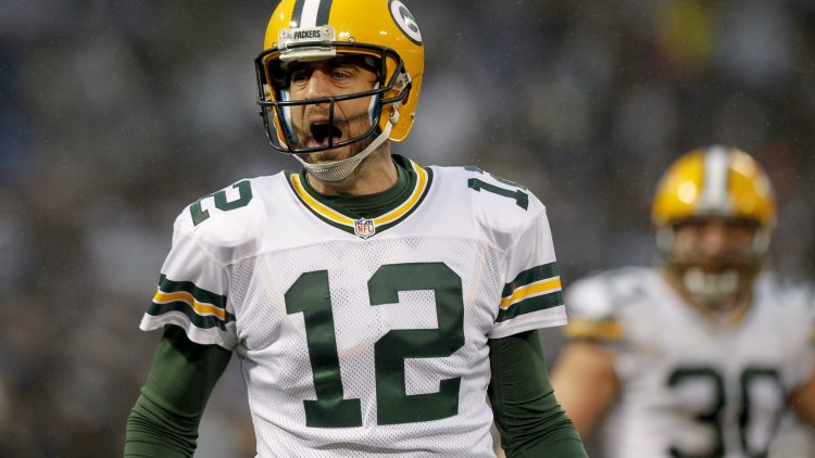 Where did Aaron Rodgers rank among the top 100 NFL players heading into 2017?