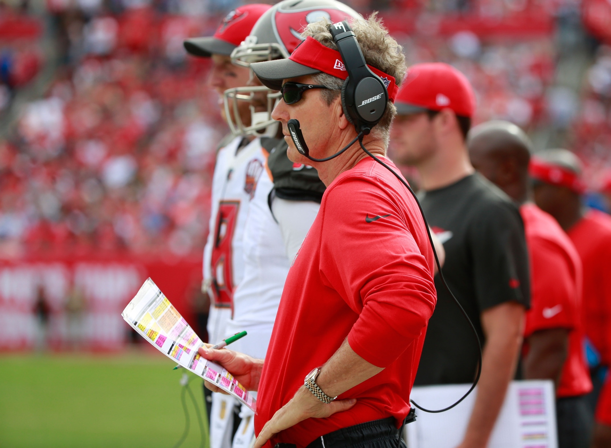 Dirk Koetter isn't a fan of all the Hard Knocks questions