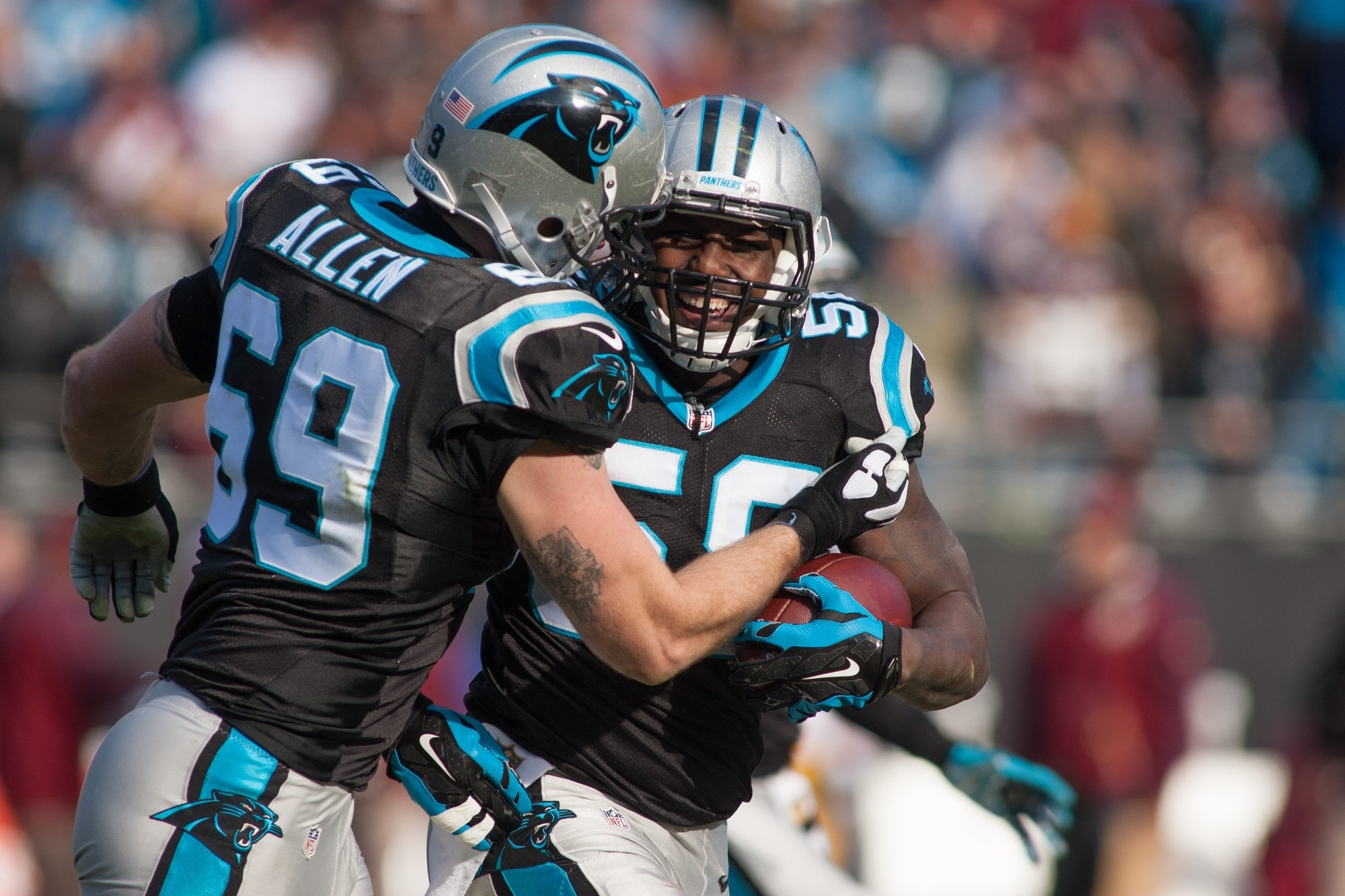 free shipping 45a91 507bd Thomas Davis promised to win Super Bowl ring for Panthers owner