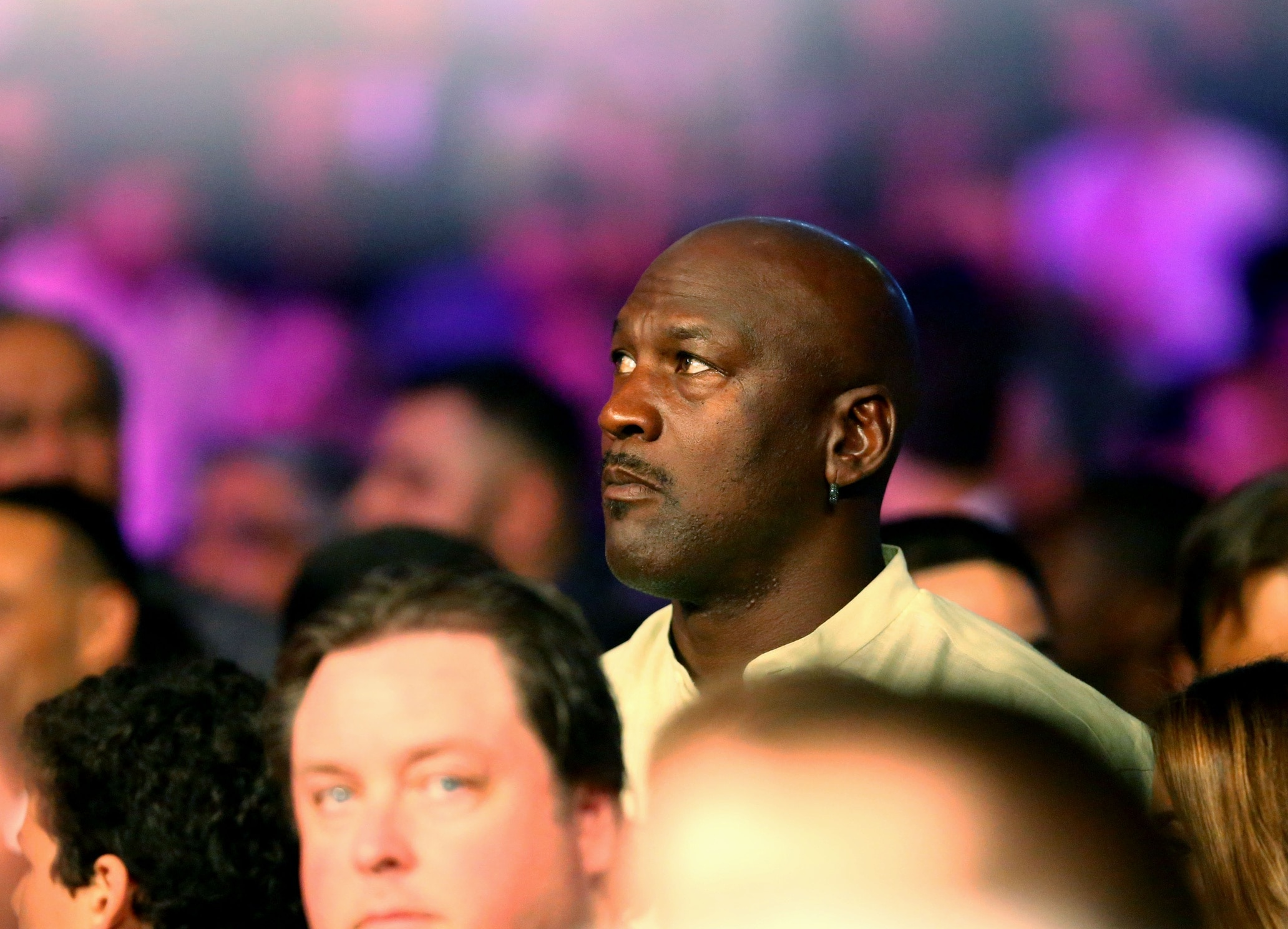 NBA Hall of Famer Michael Jordan before a boxing match in Las Vegas