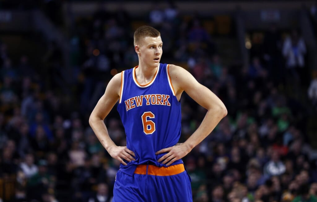 Kristaps Porzingis is a name to watch as NBA trades go down
