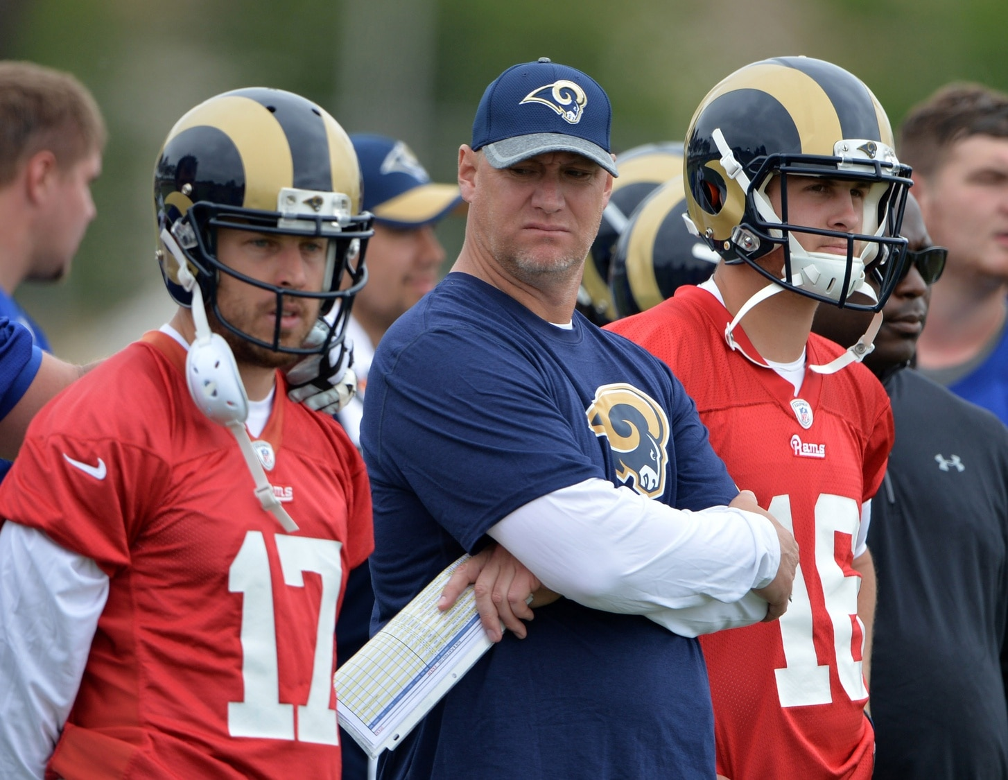 NFL veterans, Case Keenum, Jared Goff