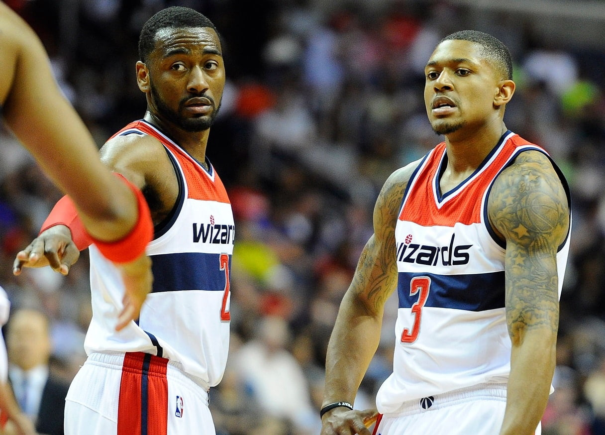 Wizards point guard John Wall has his Washington Wizards in title contention.