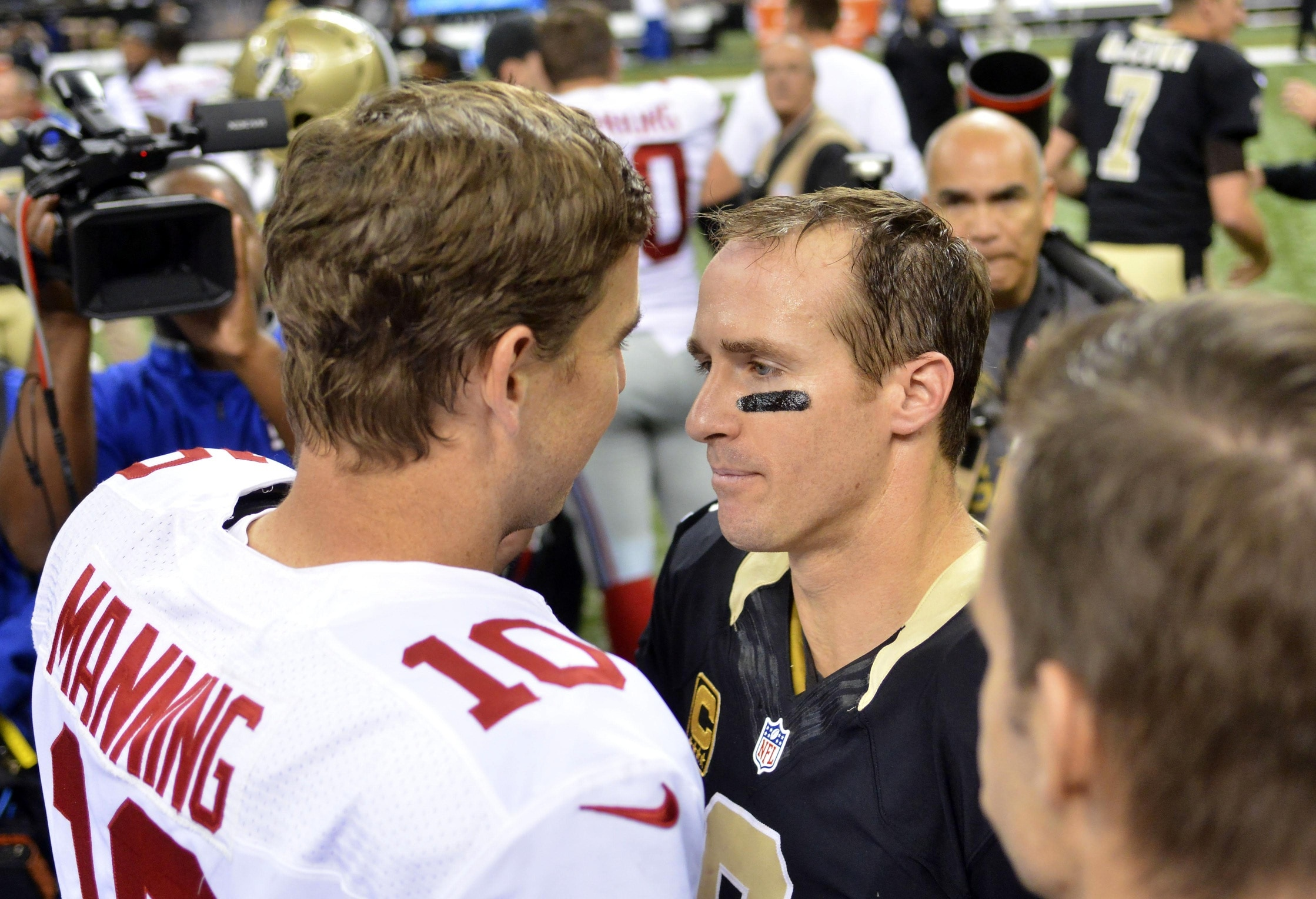 Drew Brees and Eli Manning