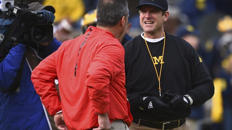 Urban Meyer and Jim Harbaugh will clash in college football Week 12