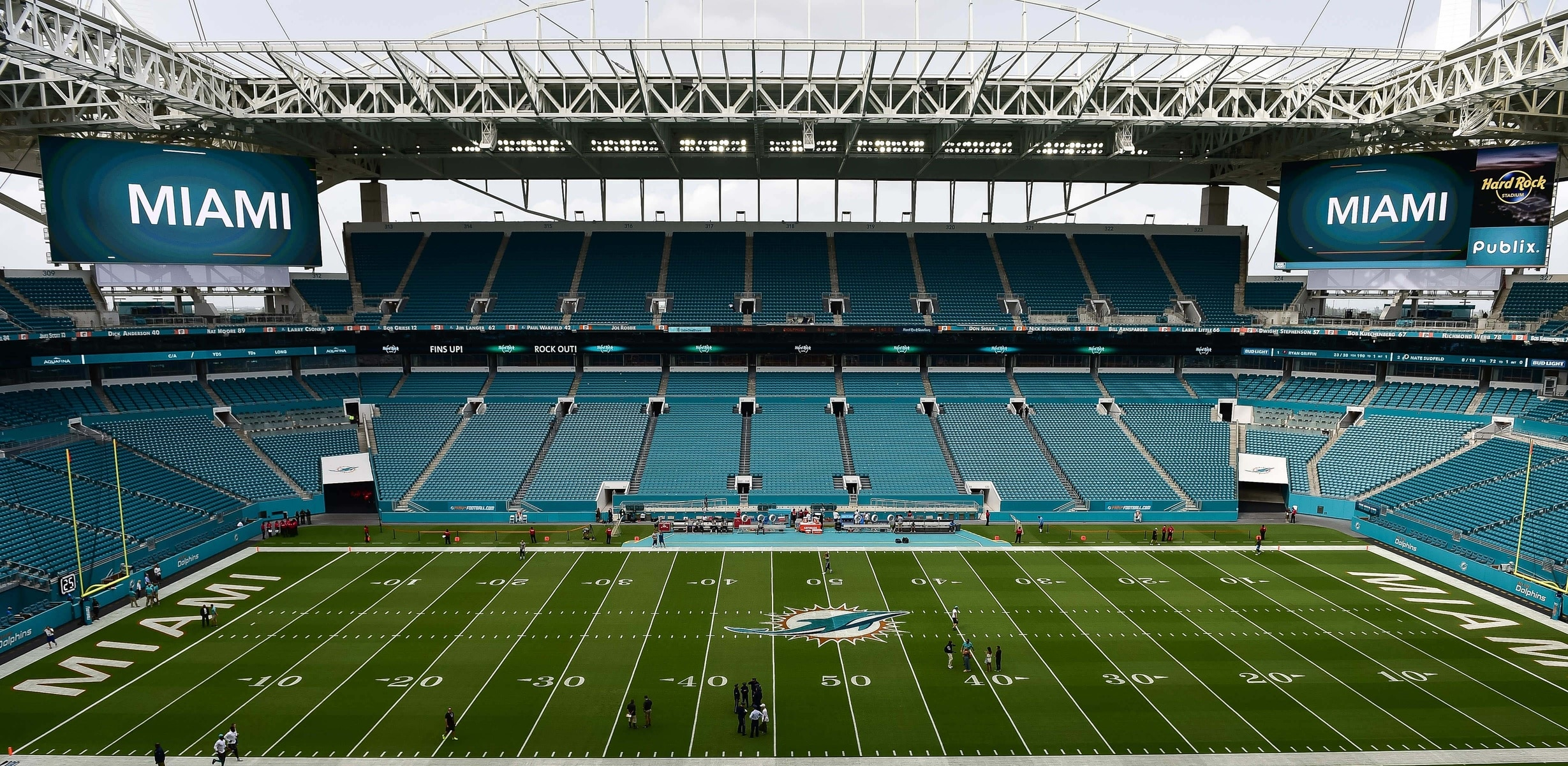 miami dolphins turning hard rock stadium into drive-in