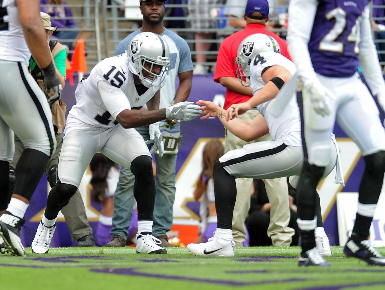 NFL Week 4, Michael Crabtree, Derek Carr