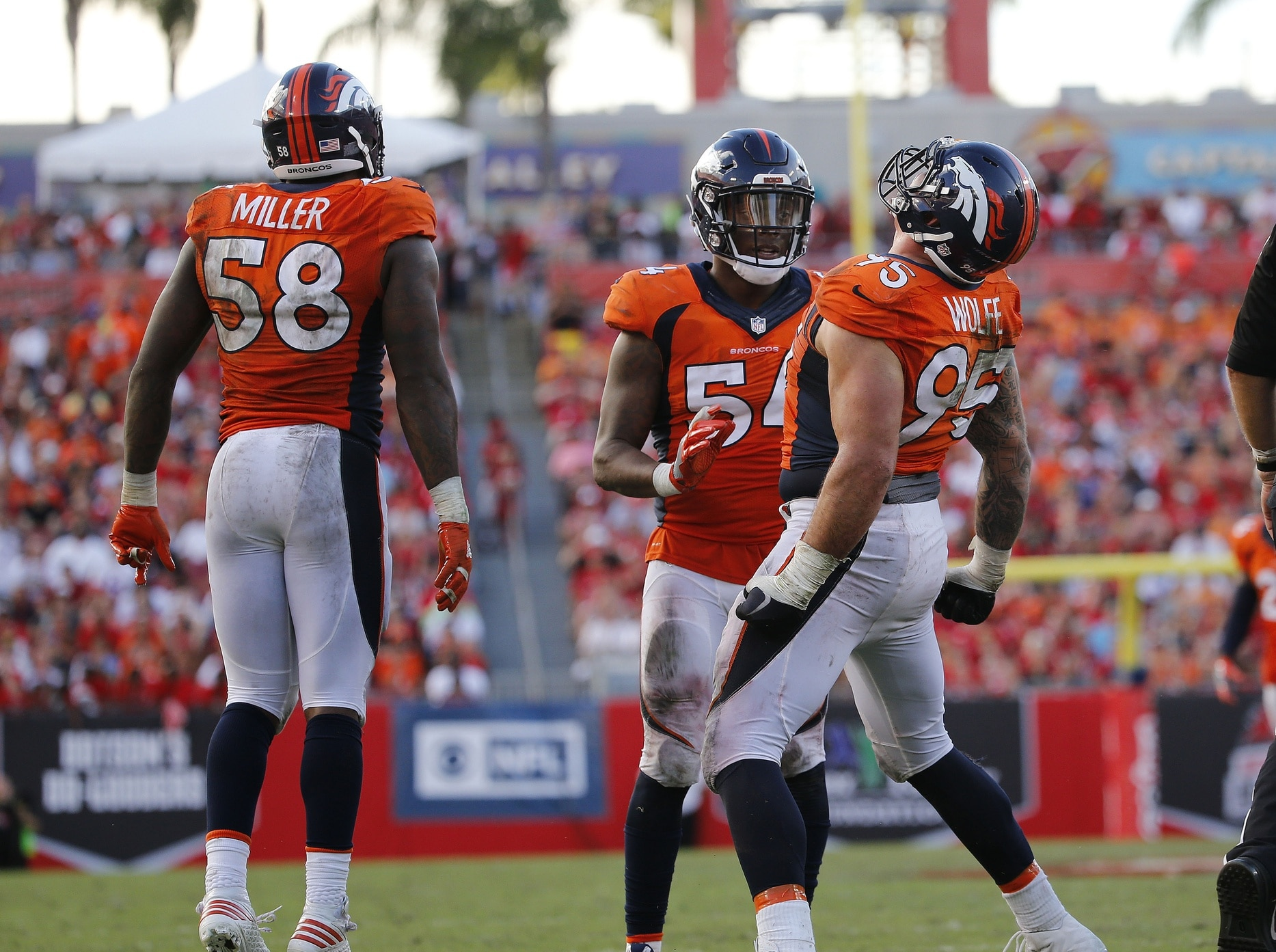 Derek Wolfe will not need surgery shares pic of swollen ankle