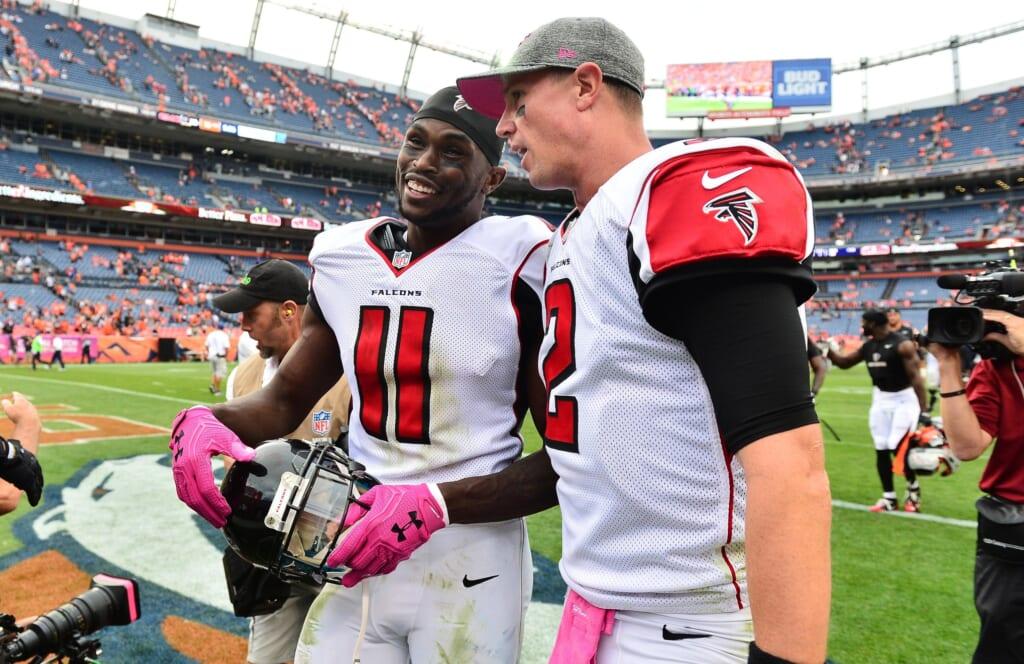 Julio Jones and Matt Ryan Atlanta Falcons
