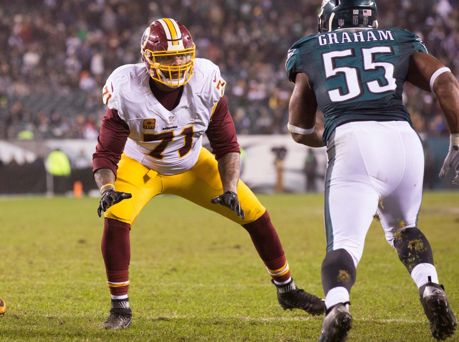 Trent Williams' Redskins holdout due to issues with training staff