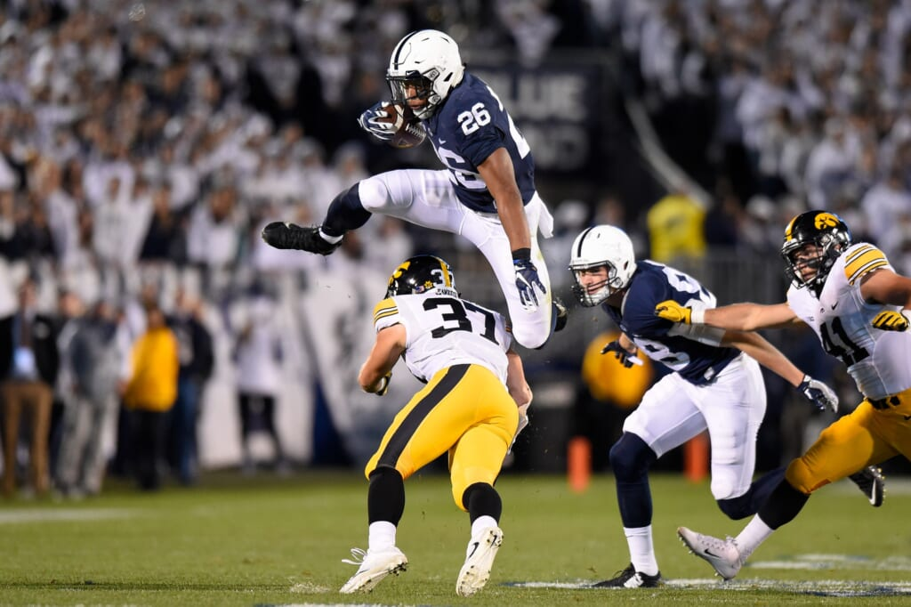 Saquon Barkley is one of the top players to watch at the 2018 NFL Scouting Combine
