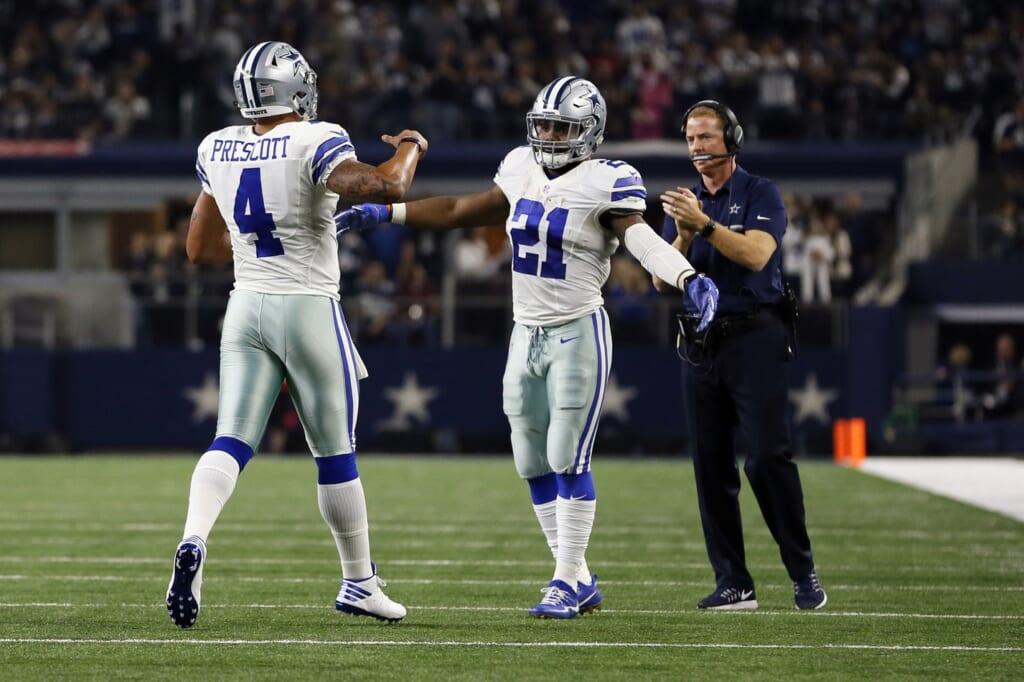 Dak Prescott Ezekiel Elliott Jason Garrett Dallas Cowboys