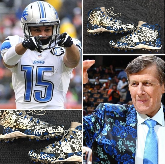 d37a6d6e693 Golden Tate to wear custom cleats to honor Craig Sager Sunday