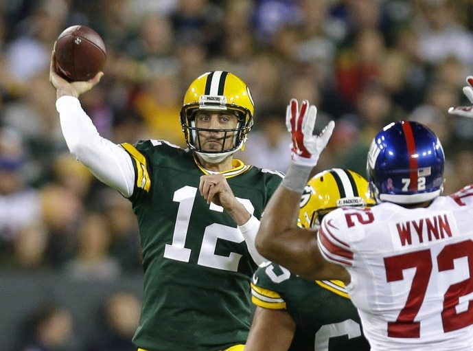 Aaron Rodgers is ranked No. 1 in fantasy quarterbacks for 2017