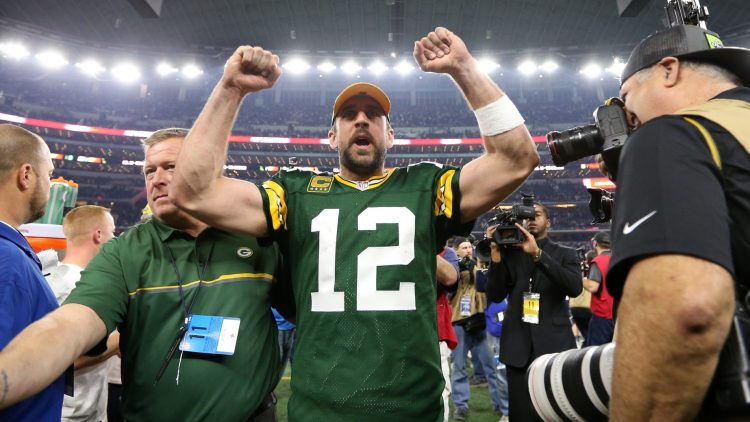 Green Bay Packers quarterback Aaron Rodgers at AT&T Stadium