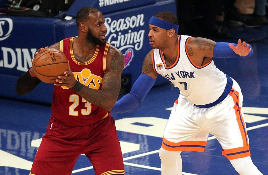 LeBron James Carmelo Anthony top 100 NBA