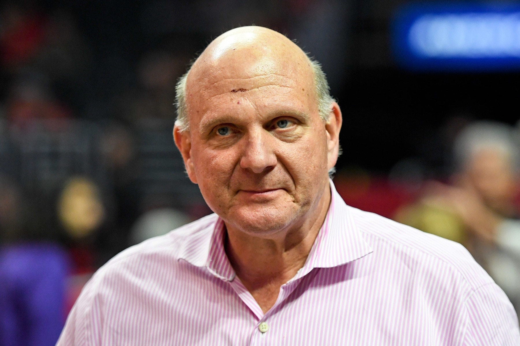 Nov 9, 2016; Los Angeles, CA, USA; Los Angeles Clippers owner Steve Ballmer prior to a NBA basketball game between the Los Angeles Clippers and the Portland Trail Blazers at Staples Center. Mandatory Credit: Kirby Lee-USA TODAY Sports