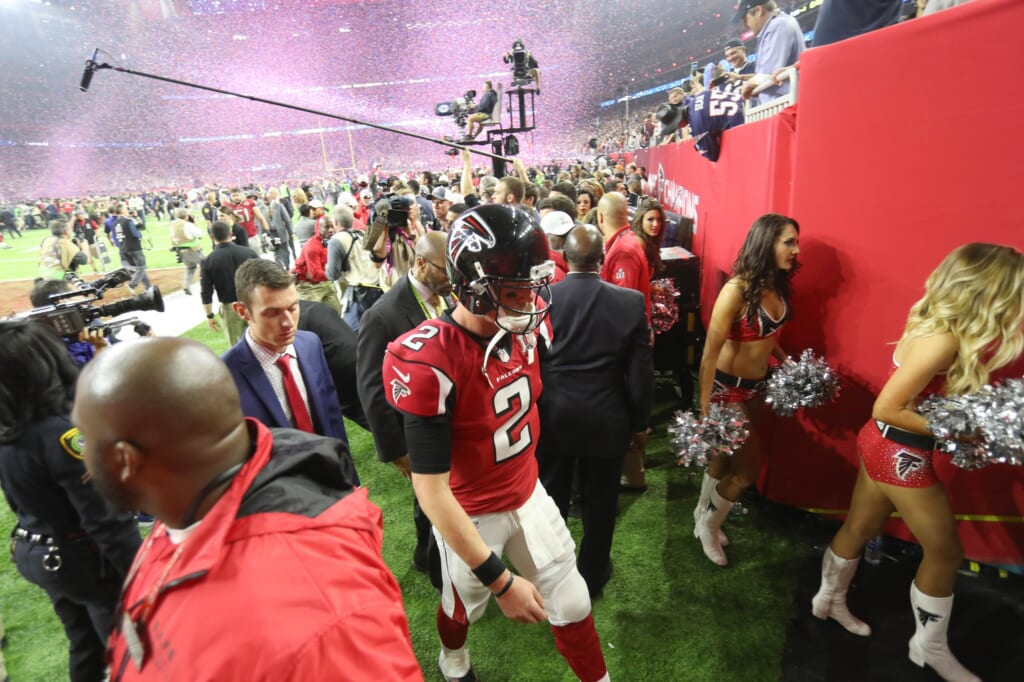 Matt Ryan Super Bowl LI Atlanta Falcons New England Patriots