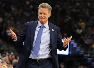 Steve Kerr Golden State Warriors Game 2 2017 NBA Finals