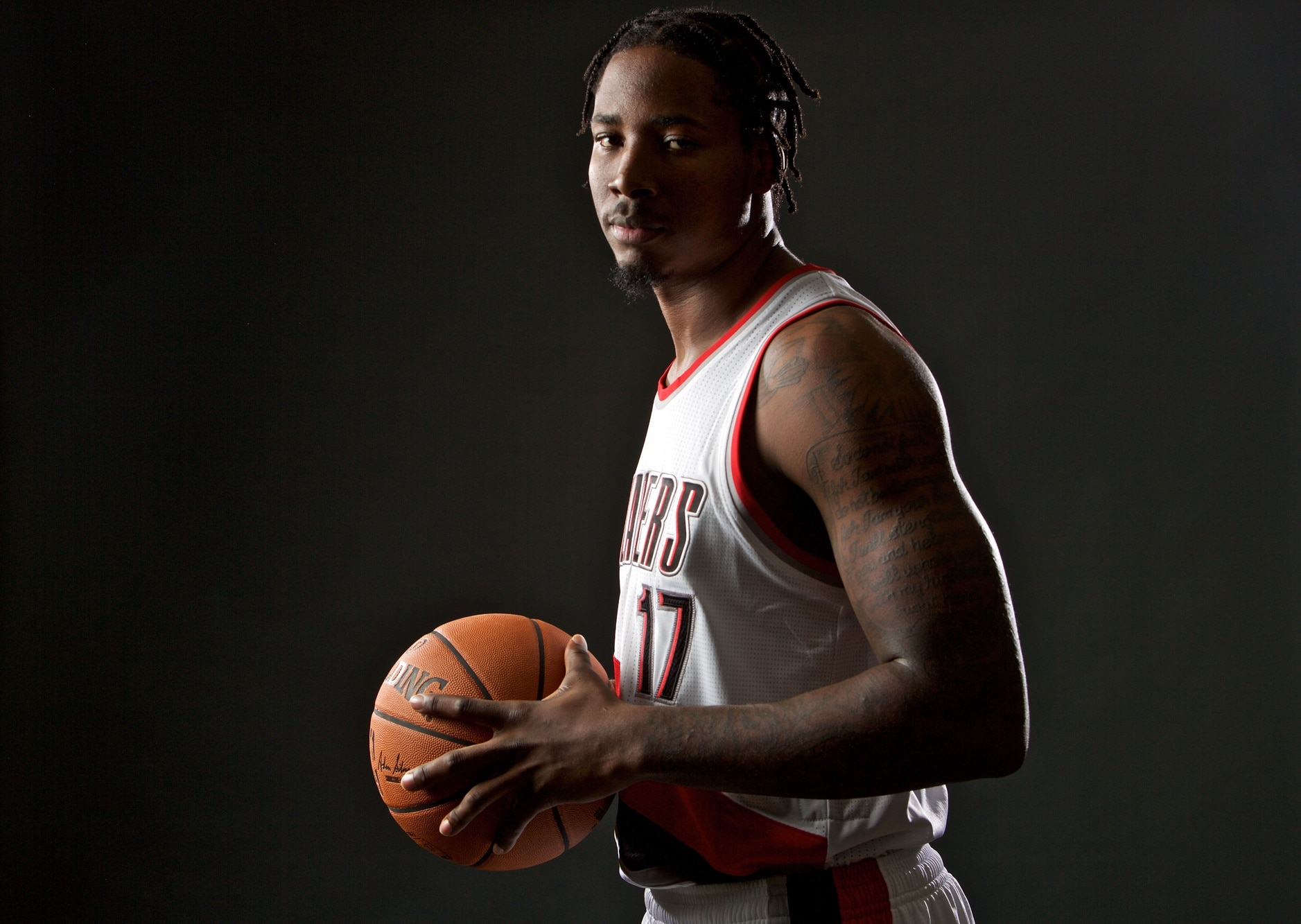 Sep 26, 2016; Portland, OR, USA; Portland Trail Blazers center Ed Davis (17) poses during media day at the Moda Center. Mandatory Credit: Craig Mitchelldyer-USA TODAY Sports