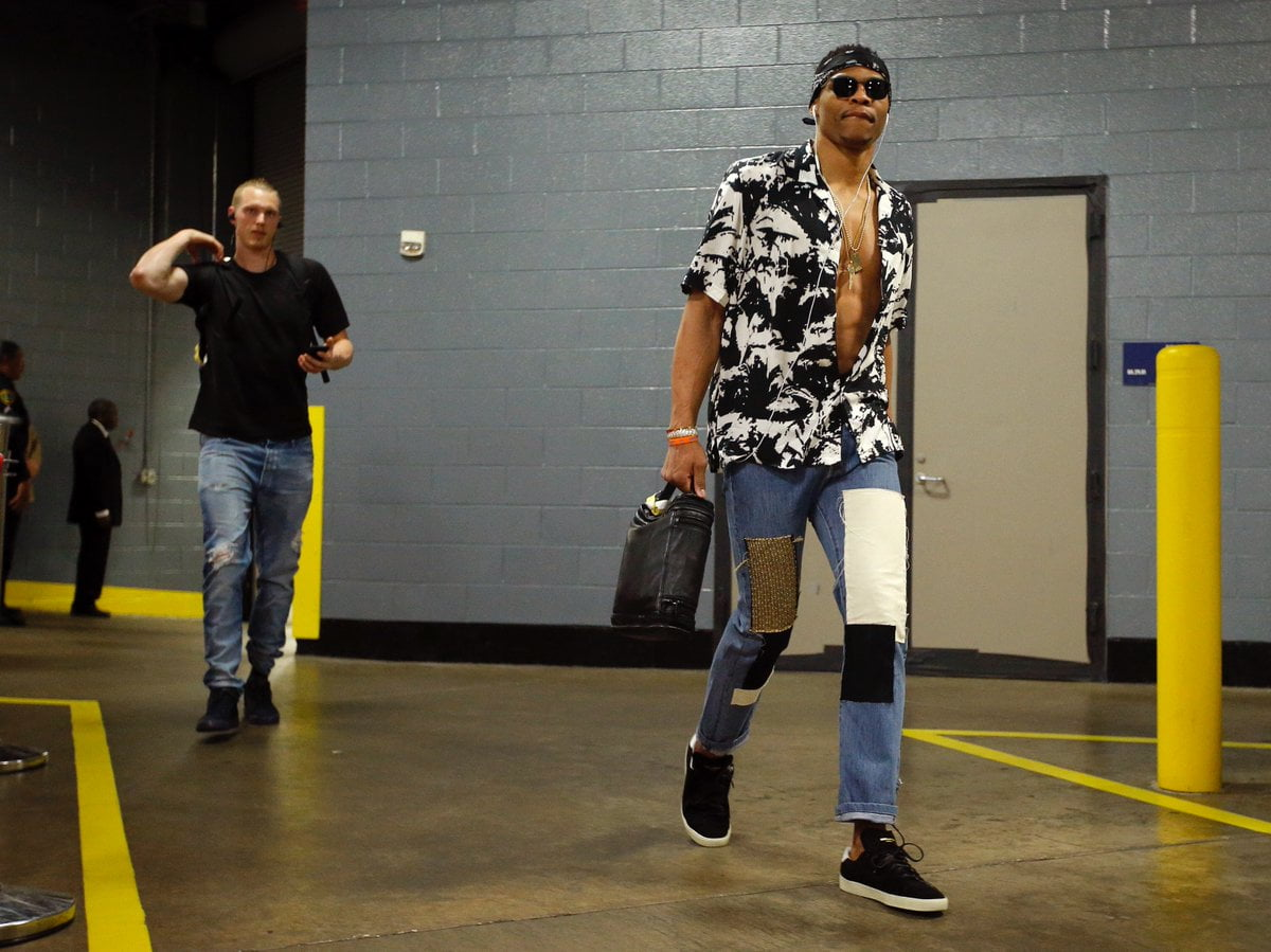 Russell Westbrook S Wardrobe Prior To Game 2 Is A Sight To