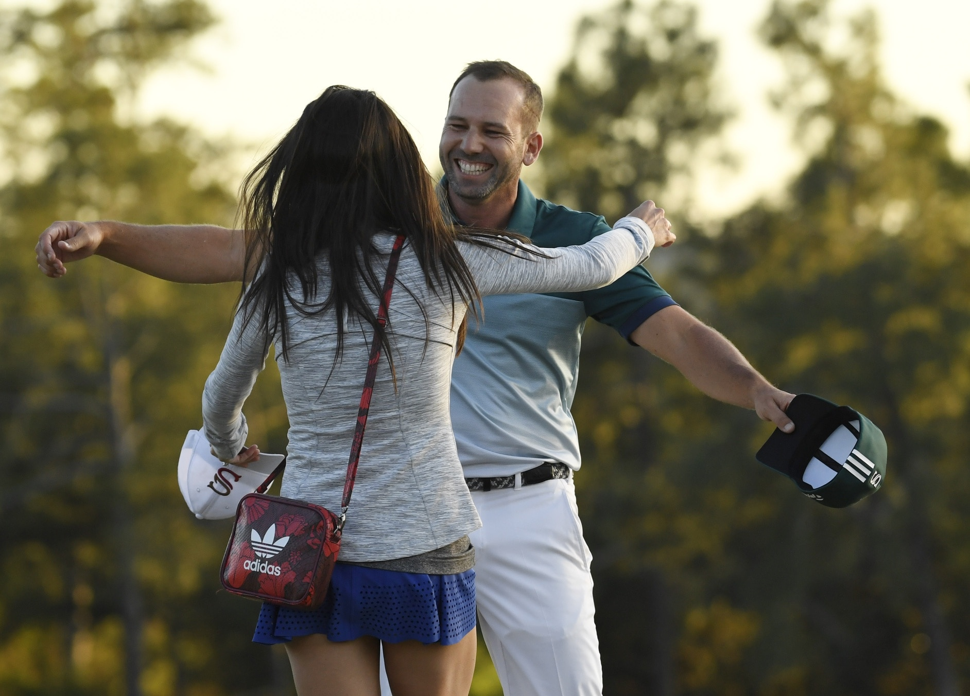 Sergio Garcia reacts to winning the 2017 Masters